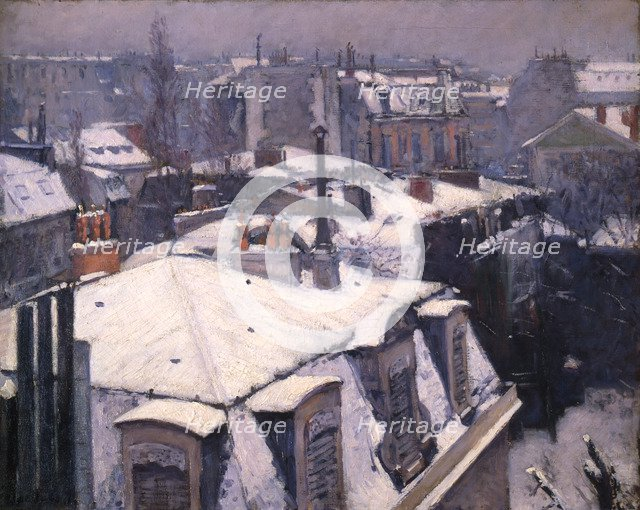 'Snow on Roofs', 1878.  Artist: Gustave Caillebotte