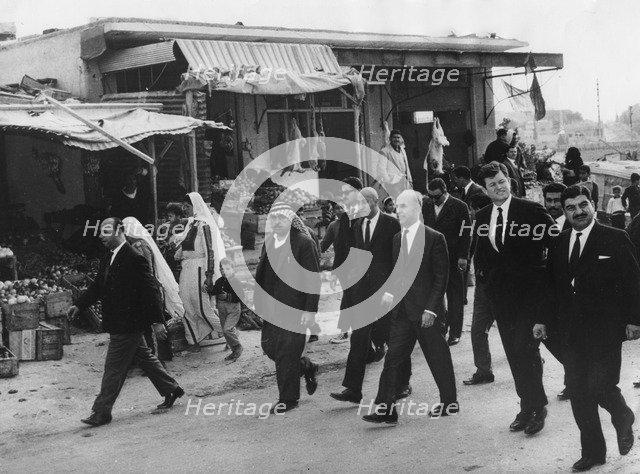 Senator Edward Kennedy visiting refugee camps in Amman, Jordan, c1960s. Artist: Unknown