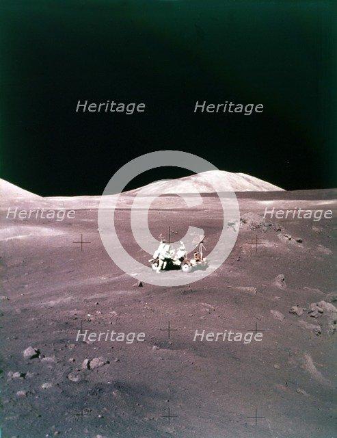 The Taurus-Littrow landing site, Apollo 17 mission, December 1972. Creator: NASA.