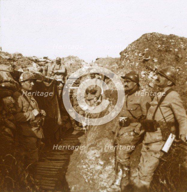Fighting unit, Ville-sur-Tourbe, northern France, c1914-c1918. Artist: Unknown.