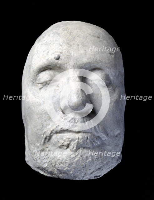 Oliver Cromwell's death mask, c17th century. Artist: Unknown.