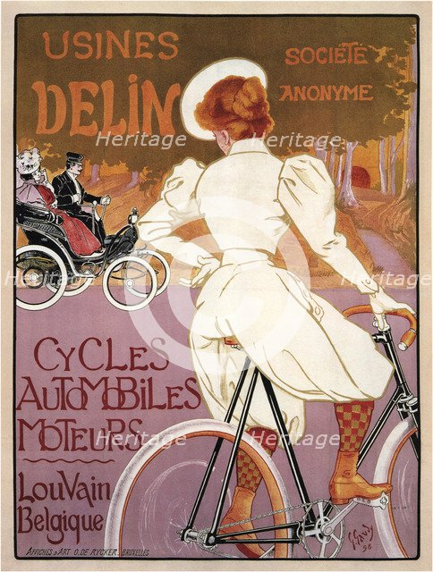 Delin Cycles Automobiles Moteurs, 1898. Artist: Gaudy, Georges (1872-1940)
