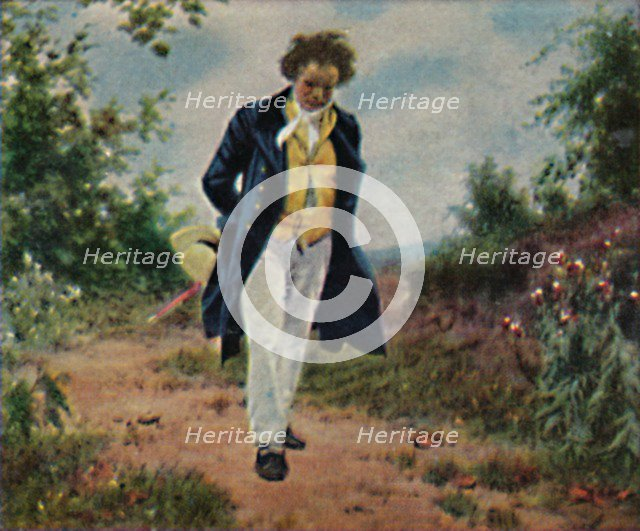 'Ludwig van Beethoven 1770-1827. - Gemälde von Schmid', 1934. Creator: Unknown.