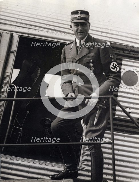 Viktor Lutze, commander of the SA, Berlin Airport, Germany, 1934. Artist: Unknown