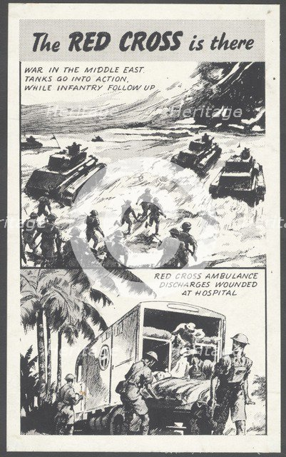 The Red Cross wartime advertisement, 1940s . Artist: Wilfred Fryer