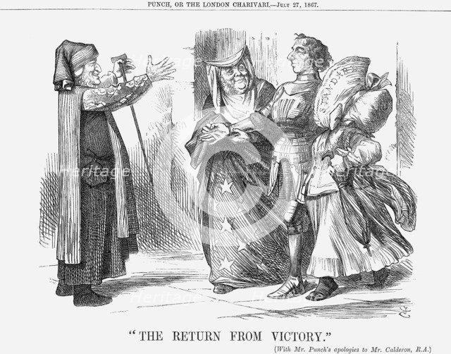 The Return from Victory, 1867. Artist: John Tenniel