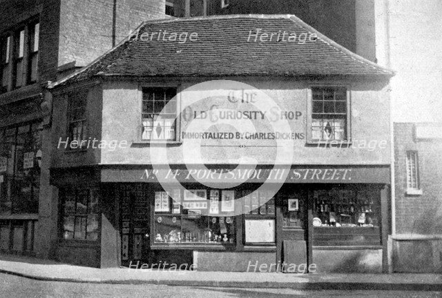 The Old Curiosity Shop, 13 Portsmouth Street, Kingsway, London, c1920. Artist: Unknown