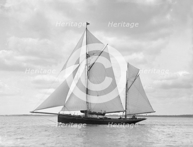 The ketch 'Palatina' under way, 1911. Creator: Kirk & Sons of Cowes.