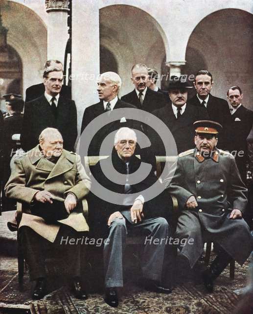 Yalta Conference of Allied leaders, World War II, 4-11 February 1945. Artist: Unknown