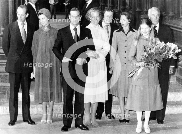 Prince and Princess Michael of Kent after their marriage in Vienna, 1978. Artist: Unknown