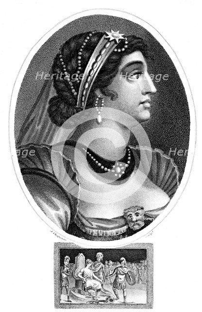 Cleopatra, Queen of Egypt, (1804).Artist: J Chapman