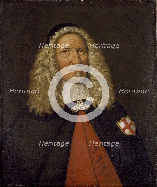 Captain Nicholas Burgh, 17th century. Artist: Cornelis de Neve.