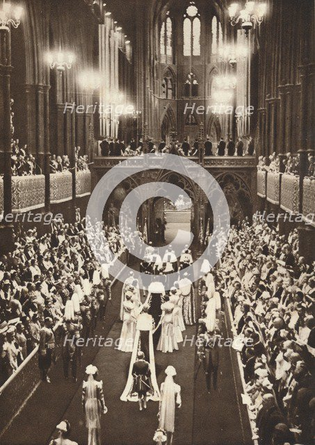 'The Procession Into The Abbey', 1937. Artist: Unknown.