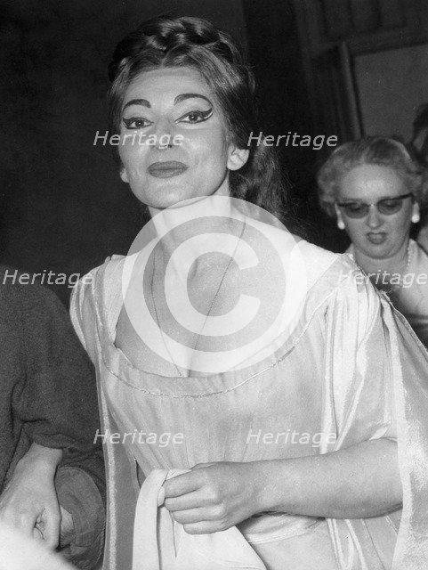 American-born Greek opera singer Maria Callas as Norma, Opera de Paris, France, May 1964. Artist: Unknown