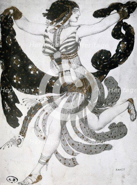 'Cleopatra', ballet costume design, 1909. Artist: Leon Bakst