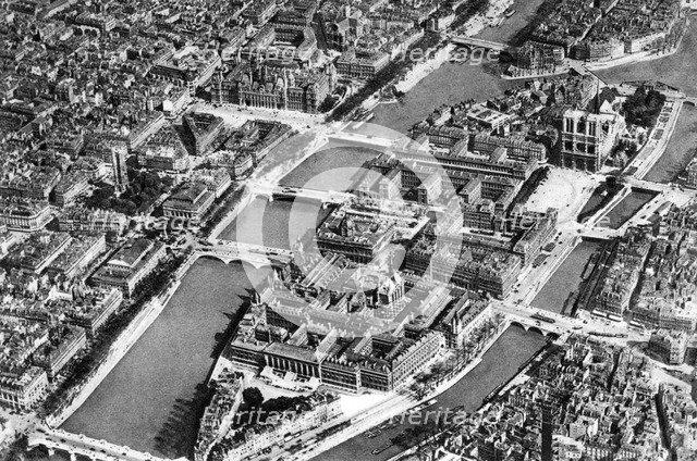 General view of the Isle de la Cite, Paris, 1931. Artist: Ernest Flammarion