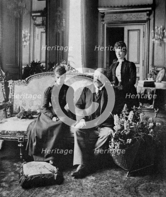 The Dowager Empress of Russia, King Edward VII and Queen Alexandra, May 1900 (1964). Artist: Unknown