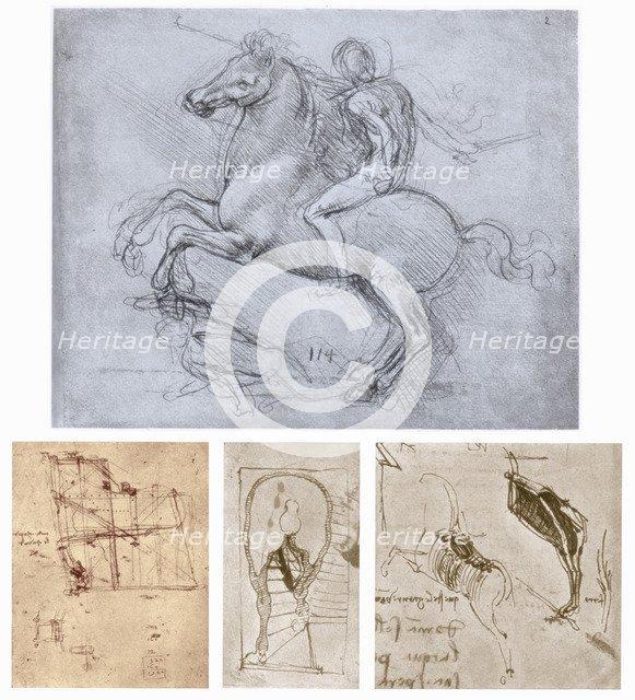 'The Sforza Monument', c1488-1493. Artist: Leonardo da Vinci