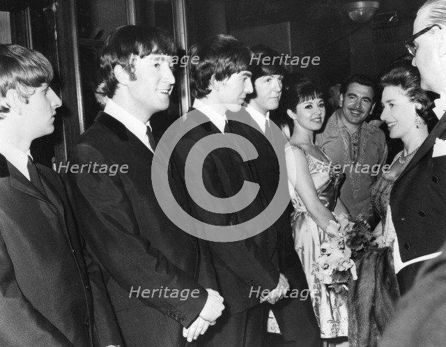 Princess Margaret meets the Beatles, 1963. Artist: Unknown