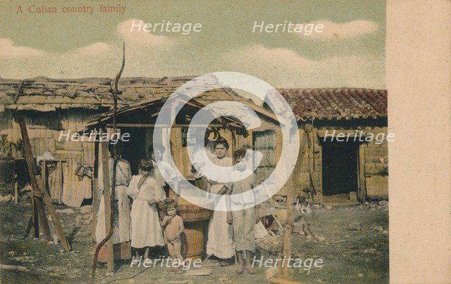 'A Cuban country family', 1908. Artist: Unknown.