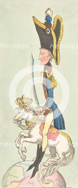 A Great Man on His Hobby Horse, 1803., 1803. Creator: Thomas Rowlandson.