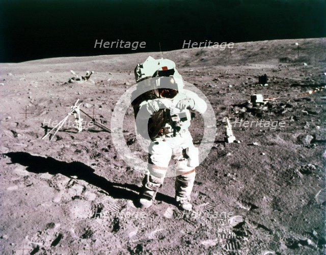Astronaut John Young on the lunar surface, Apollo 16 mission, 21 April 1972. Creator: Charles Duke.
