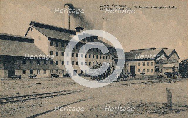 'Central Vertientes Sugar Mill, Camaguey, Cuba', c1910. Artist: Unknown.