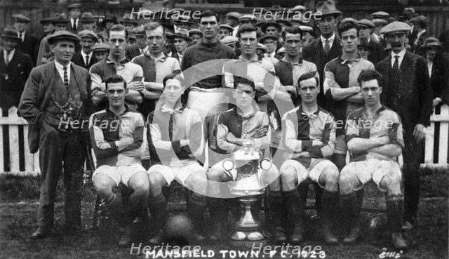Mansfield Town Football Club team photograph, 1923. Artist: Ellis