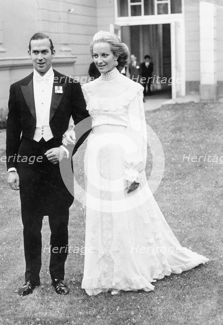 Prince Michael of Kent and his fiancee Marie Christine at the British Embassy, Vienna, 1978. Artist: Unknown