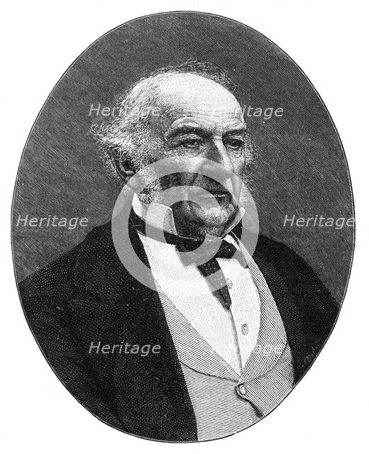 William Ewart Gladstone, British Liberal Party statesman and Prime Minister, c1890.Artist: Elliott & Fry