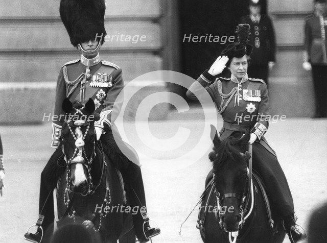 Trooping the Colour, Buckingham Palace, London, 1976. Artist: Unknown