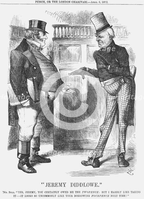 Jeremy Diddlowe, 1872. Artist: Joseph Swain