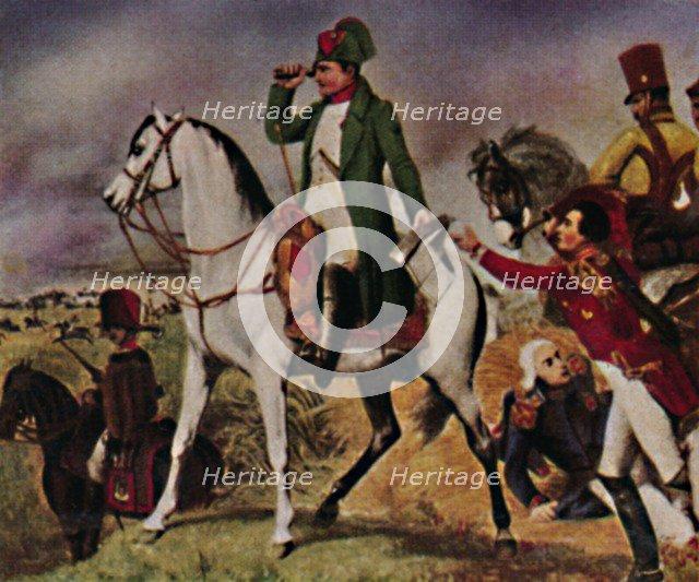 'Napoleon I 1769-1821. In der Schiacht bei Wagram', 1934. Creator: Unknown.