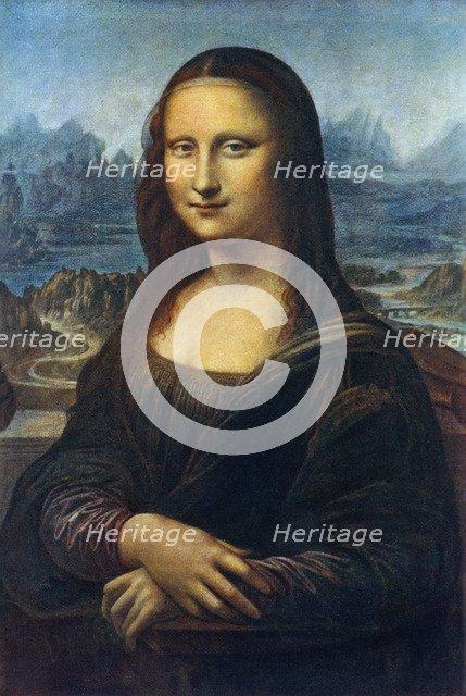 'Mona Lisa', c1505, (1912).Artist: Leonardo da Vinci