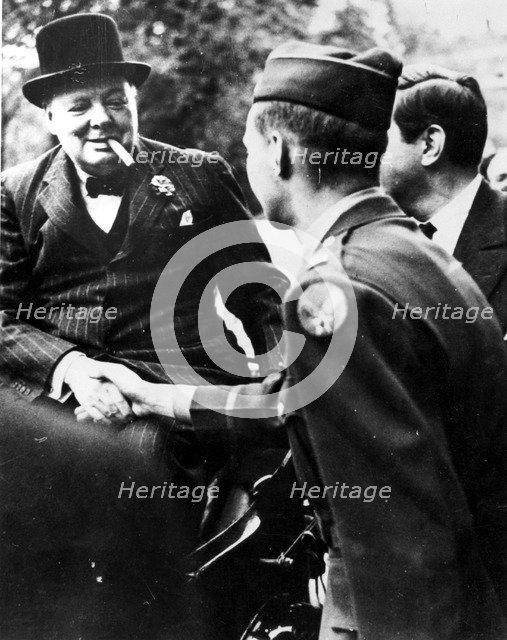 Winston Churchill, British statesman, World War II, 1939-1945. Artist: Unknown