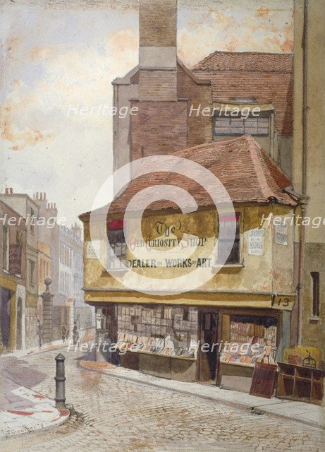 View of the Old Curiosity Shop, Portsmouth Street, Westminster, London, 1879. Artist: John Crowther