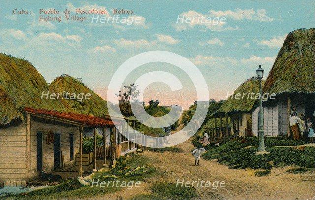 'Cuba: Pueblo de Pescadores. Bohios. Fishing Village', 1919. Artist: Unknown.