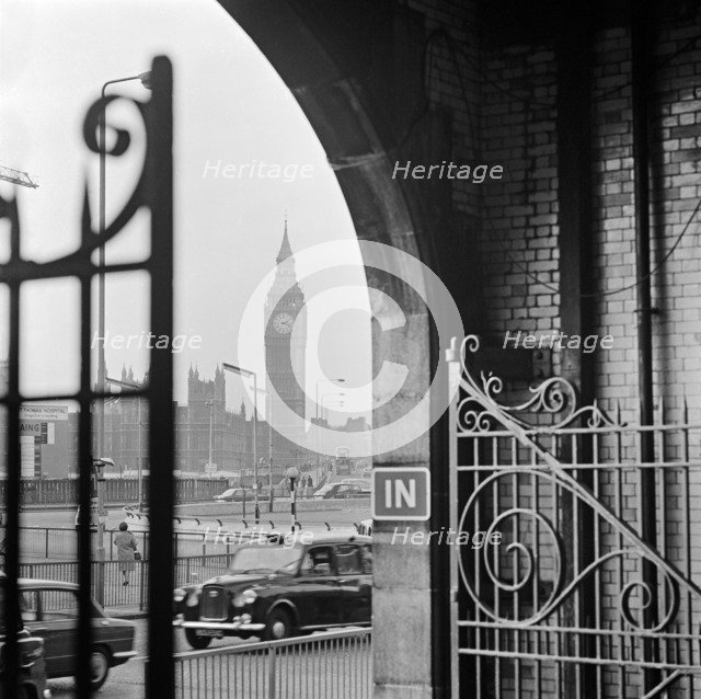 Big Ben and the Houses of Parliament from Waterloo Station, London, 1960-1972. Artist: John Gay
