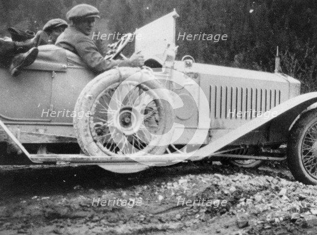 Rolls-Royce Silver Ghost in the Alpine Trial, 1913. Artist: Unknown