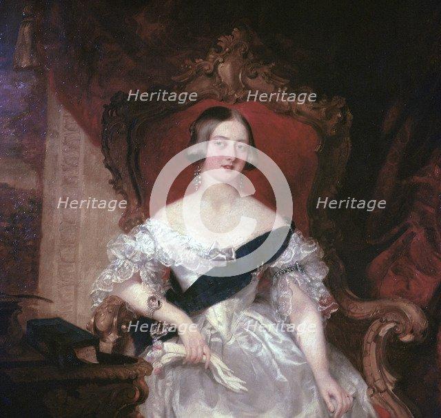 Portrait of Queen Victoria, 1841. Artist: Herbert Luther Smith.