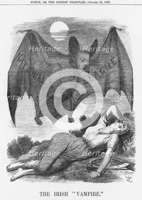 'The Irish Vampire', 1885. Artist: Joseph Swain