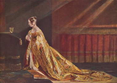 Gallery image of Queen Victoria in the Coronation robes, 1838 (1906). Artist: Charles Robert Leslie.
