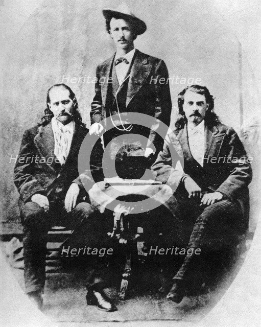 'Wild Bill' Hickok, 'Texas Jack' Omohundro and 'Buffalo Bill' Cody, c1870s (1954). Artist: Unknown
