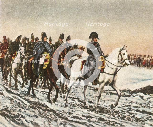 Napoleon's retreat to the Berezina, 1812, (1936). Creator: Unknown.
