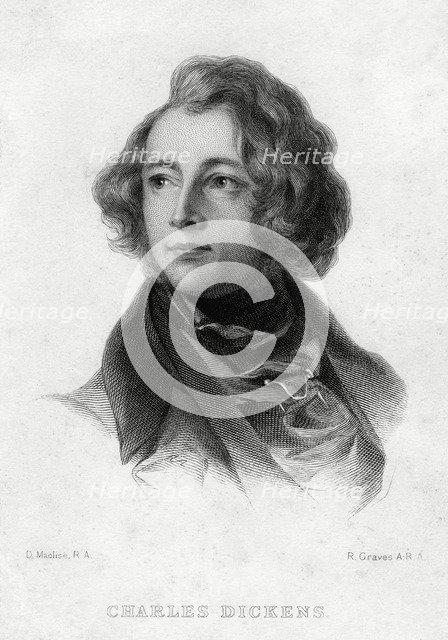 Charles Dickens, English author, c1870s. Artist: Robert Graves