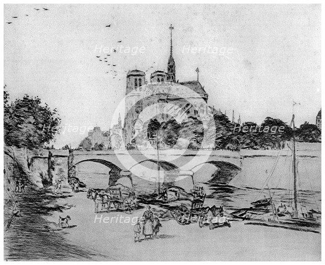 'Notre Dame', c1870-1920 (1924). Artist: Jean Francois Raffaelli