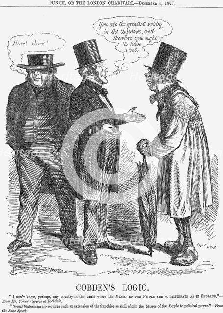'Cobden's Logic', 1863. Artist: John Tenniel