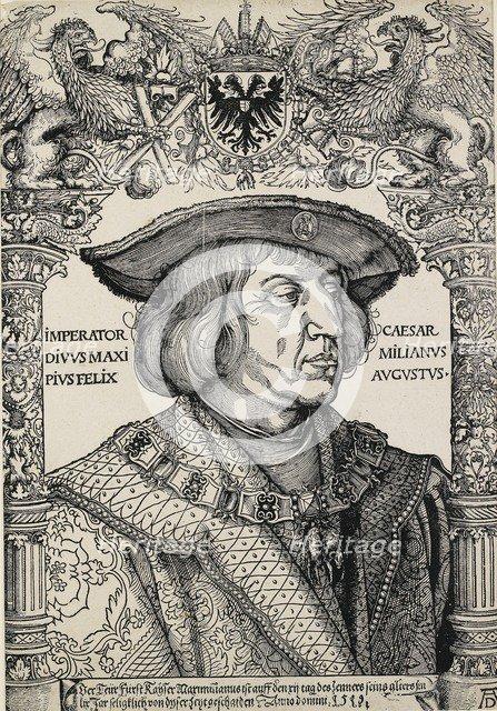 Portrait of Emperor Maximilian I, c1519. Artist: Albrecht Durer.