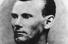 Thumbnail image of Jesse James, American outlaw, c1869-1882 (1954). Artist: Unknown