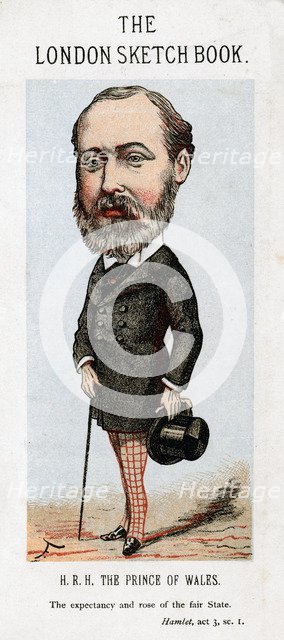 Albert Edward, Prince of Wales, 1874.Artist: Faustin